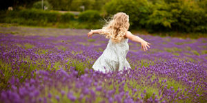 Harvest-11-007-child running-lavender-running through field of lavender-happy child-child playing