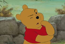 winnie the pooh, forgetting things, think think think
